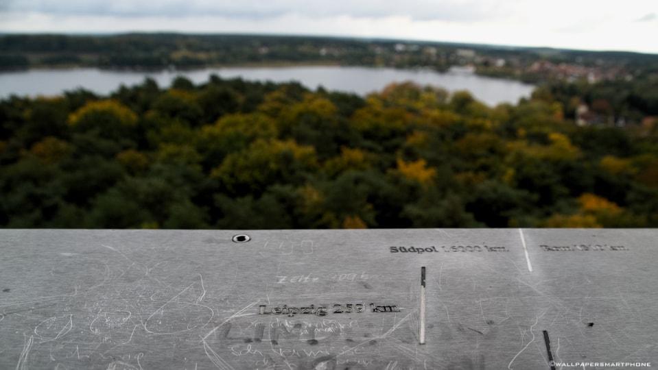view over Krakower Lake