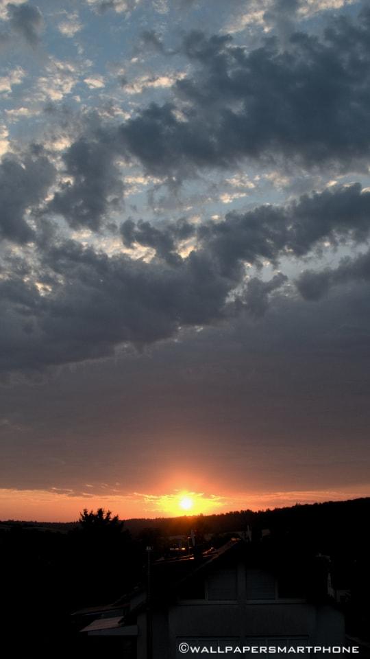 sunrise over hill