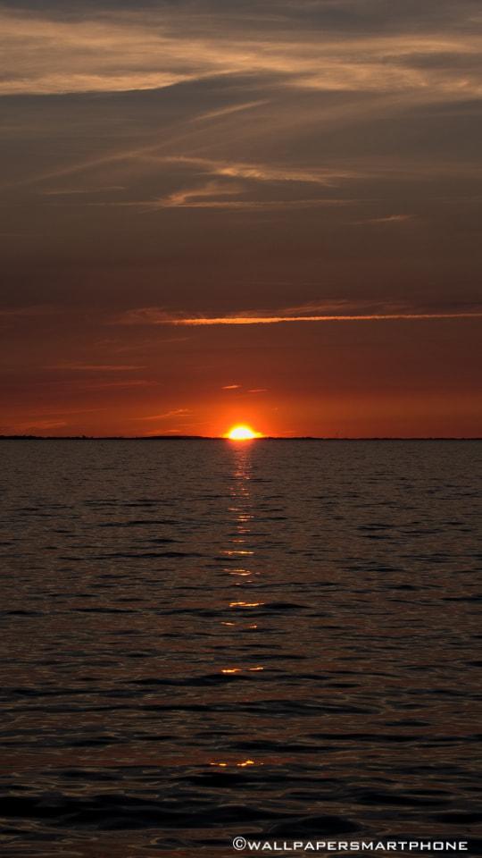 Lubmin Sonnenuntergang auf Rügen